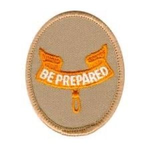 """Boy Scouts """"Be Prepared"""" Badge"""